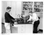 Students in laboratory at the high school building