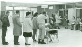 Registration in main lobby of KCC admin. Building in the early 1960s.