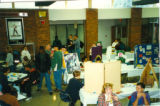 Students at club gathering in the student center