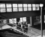1960s picture of KCC students on the steps of campus