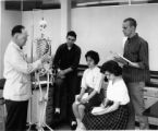 An anatomy class being taught by Sidney DeBoer