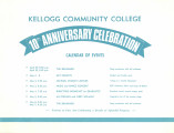 Kellogg Community College 10th Anniversary Celebration, Calendar of Events