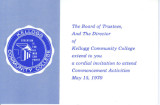 invitation to 1970 Commencement